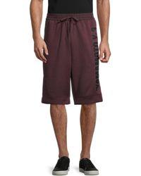 Y-3 Men's U Ch2 Mesh Logo Shorts - Dark Red - Size L