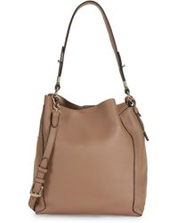 Vince Camuto Small Grained Leather Hobo Bag - Black