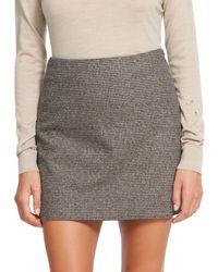 Theory A-line Mini Skirt - Multicolour