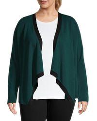 Eileen Fisher Women's Plus Waterfall Cardigan - Pine - Size 2x (18-20) - Green