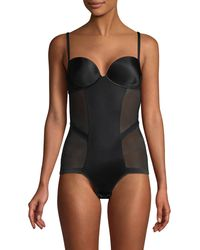 Le Mystere Mesh Bodysuit - Black