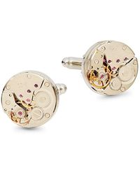 Saks Fifth Avenue Two-tone Embellished Gear Cuff Link - Multicolour