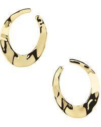 Ippolita Senso 18k Yellow Gold Crescent Hoop Earrings - Metallic