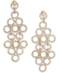 ABS By Allen Schwartz - Mixers Circle Chandelier Earrings - Lyst