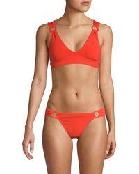 Robin Piccone Kate Scoopneck Bikini Top - Black