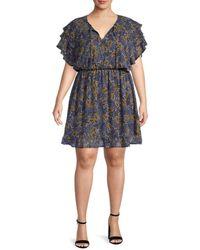 Bobeau Women's Plus Bree Chiffon Dress - Marsala - Size 4x (26-28) - Multicolor