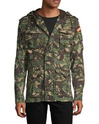 Superdry Military Rookie Splatter Jacket - Green