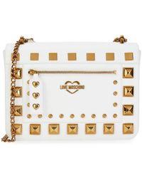 Love Moschino Women's Chain Strap Studded Crossbody Bag - Black