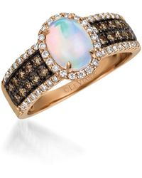 Ava & Aiden Sterling Silver & Quartz Ring - Multicolour