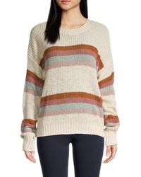 Olive & Oak Striped Knit Sweater - Multicolor