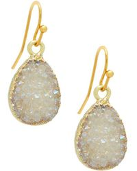 Panacea - Drusy Quartz Teardrop Earrings - Lyst