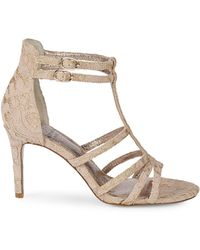Adrianna Papell Ari Floral Lace Sandals - Multicolour