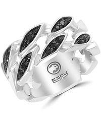 Effy - Men's Black Spinel Sterling Silver Ring - Size 10 - Lyst