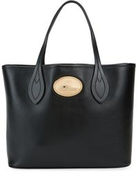 Roberto Cavalli Leather Box Tote - Black
