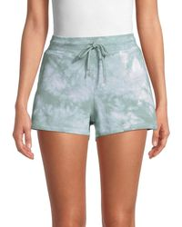 Marc New York Women's Tie-dyed Shorts - Sage - Size Xl - Blue