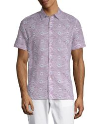 Perry Ellis - Paisley-print Button-down Shirt - Lyst