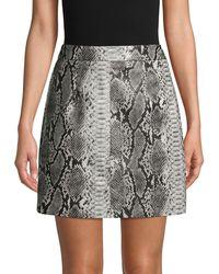 French Connection Snakeskin Mini Skirt - Gray