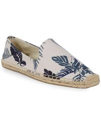 Soludos - Smoking Tropical-print Slip-on Espadrilles - Lyst