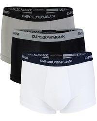 Emporio Armani 3-pack Logo-waist Briefs - White