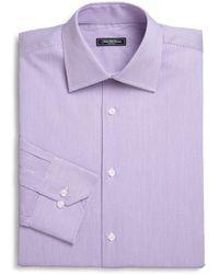 Saks Fifth Avenue - Micro Stripe Dress Shirt - Lyst