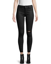 DL1961 Margaux Ripped Instasculpt Skinny Ankle Jeans - Black