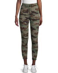 BB Dakota Women's No See Camo Sweatpants - Olive - Size Xs - Green