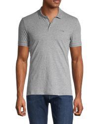 Armani Jeans Men's Short-sleeve Stretch-cotton Polo - Gray - Size L