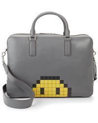 Anya Hindmarch - Walton Pixel Smiley Briefcase - Lyst