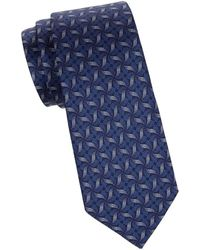 Saks Fifth Avenue - Abstract Floral Silk Tie - Lyst