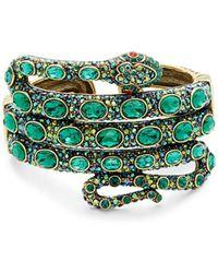 Heidi Daus Women's Brass & Glass Crystal Serpent Bracelet - Green