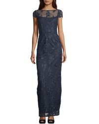 Adrianna Papell Corded Lace Gown - Blue