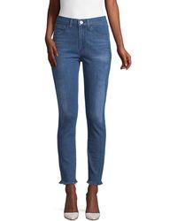 3x1 W3 Raw-edge Cropped Skinny Jeans - Blue