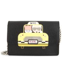 Karl Lagerfeld - Women's Maybelle Taxi Crossbody - Taxi Yellow Black - Lyst