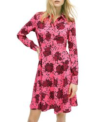 Kate Spade Floral Flare Shirtdress - Multicolour