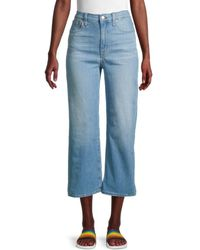 Madewell Wide-leg Cropped Slim-fit Jeans - Blue