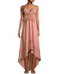 Tiare Hawaii Women's Naomi Floral Lace Maxi Dress - Dusty Rose - Pink