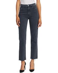J Brand Jules High Rise Ankle Straight Jeans - Blue