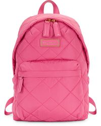 Marc Jacobs Quilted Zip-around Backpack - Pink