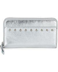 Sam Edelman Studded Zip-around Wallet - Metallic