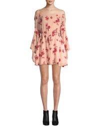 Lovers + Friends - Stay Floral Off-the-shoulder Dress - Lyst