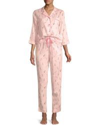 Jane And Bleecker - Two-piece Graphic Pyjama Set - Lyst