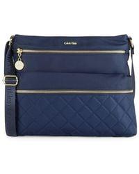 Calvin Klein - Quilted Crossbody Bag - Lyst