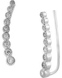 Effy - Diamond And 14k White Gold Ear Crawlers - Lyst