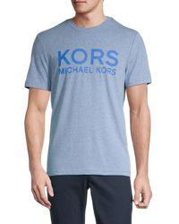 Michael Kors Men's Jaspe Logo T-shirt - Midnight - Size Xl - Blue