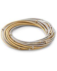 Alor Women's Classique 18k Gold & Stainless Steel Multi-strand Bracelet - Metallic