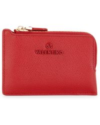 Valentino By Mario Valentino Natalie Pebbled Leather Pouch - Red