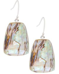 Saachi Women's Prism Rhodium-plated & Mother-of-pearl Drop Earrings - Multicolor