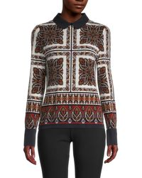 Tommy Hilfiger Printed Long-sleeve Blouse - Multicolor