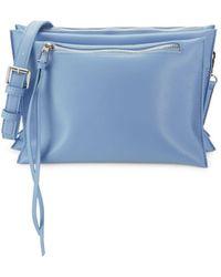 Sam Edelman Maisie Tiered Pouch Crossbody Bag - Blue