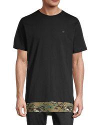 NANA JUDY Men's Windsor Cotton T-shirt - Black - Size S